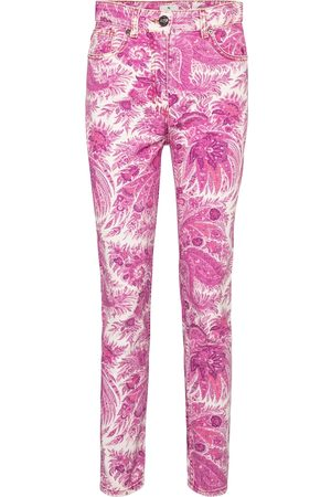Etro High-rise paisley skinny jeans