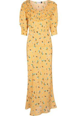 RIXO London Belle floral checked maxi dress