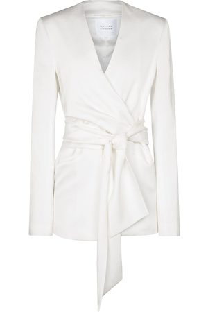 GALVAN Greenwich crêpe bridal wrap jacket