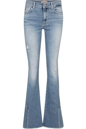 7 for all Mankind Women Bootcut - Split-hem mid-rise bootcut jeans