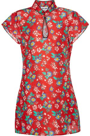 RIXO London Lolita floral linen and silk minidress