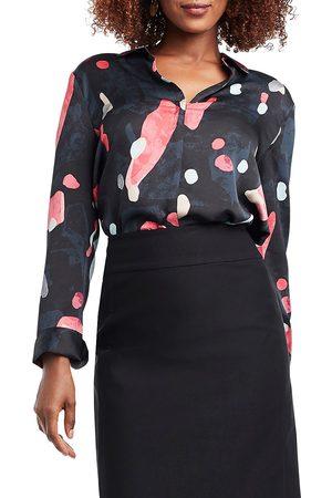 NIC+ZOE Women's Kaleidoscope Woven Blouse - Multi - Size Medium
