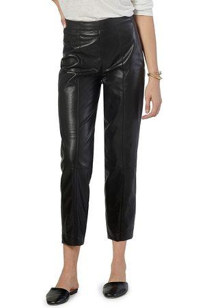 Joie Women's Bianca Faux Leather Cropped Pants - Caviar - Size 10