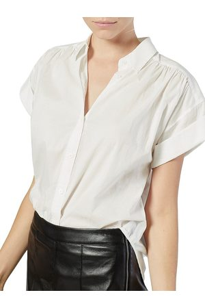 Joie Women's Naro Short-Sleeve Cotton Shirt - Clean - Size XS