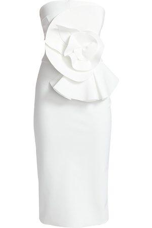 CHIARA BONI Women's Hebe Strapless Ruffle Sheath Dress - - Size 8