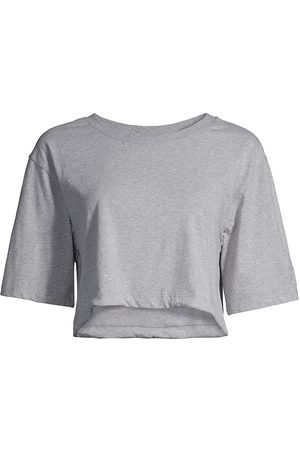 Les Girls Les Boys Women's Jersey Apparel Crop Top - Grey Marl - Size XS
