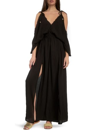 Delan Women's Butterfly Crinkle Cover-Up Maxi Dress