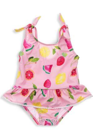 Snapper Rock Baby Girl's Fruit Fiesta Ruffle Swimsuit - - Size 12 Months