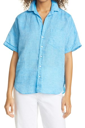 FRANK & EILEEN Women's Rose Linen Button-Up Shirt