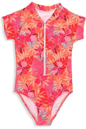 Snapper Rock Little Girl's & Girl's Tropical Punch Short Sleeve Surf Suit - Punch - Size 16