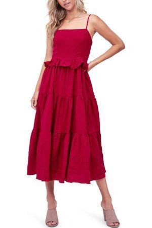 EN SAISON Women's Tiered Midi Dress