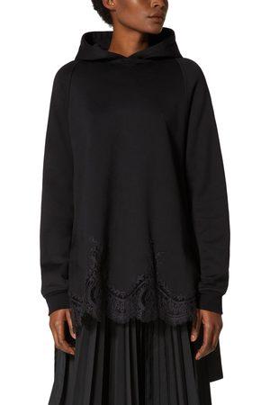 VALENTINO Women's Lace Hem High/low Hoodie