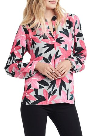 NIC+ZOE, Petites Women's Poinsettia Woven Blouse - Multi - Size Large