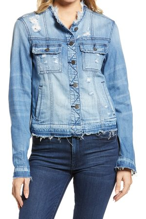 HIDDEN JEANS Women's Frayed Edge Denim Jacket