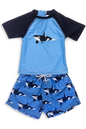 Snapper Rock Baby Boy's Two-Piece Orca Ocean Short Sleeve & Shorts Set - - Size 3 Months