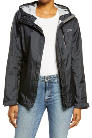L.L.BEAN Women's L.l. Bean Trail Model Water Resistant Packable Rain Jacket
