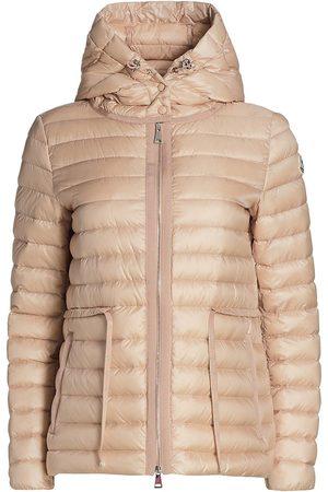 Moncler Women's Raie Hooded Puffer Coat - Blush - Size XS