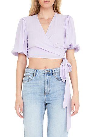 Bardot Women's Isabella Wrap Crop Top