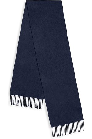 Paul Smith Men's Virgin Wool Fringe Scarf - Navy