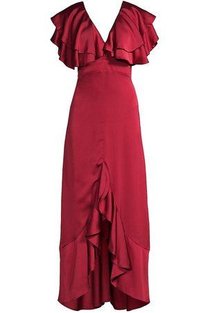 Azulu Women's Sheen Tiered Ruffle Dress - - Size 4