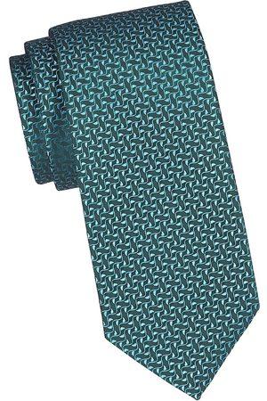 Charvet Men's Ivy Leaf Silk Tie - Teal