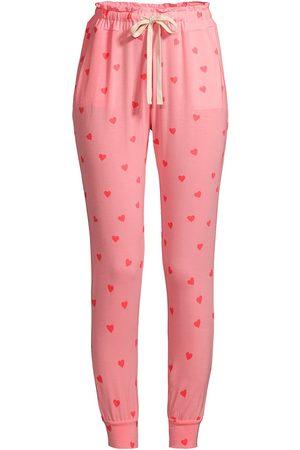 Stripe & Stare Women's Heart Throb Lounge Pants - Heart Throb - Size Medium