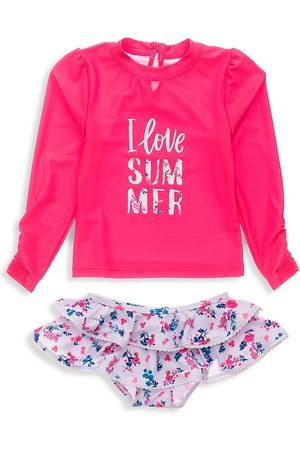 Snapper Rock Baby Girl's Pretty Petals Two-Piece Shirt & Ruffle Bottom Set - - Size 3 Months