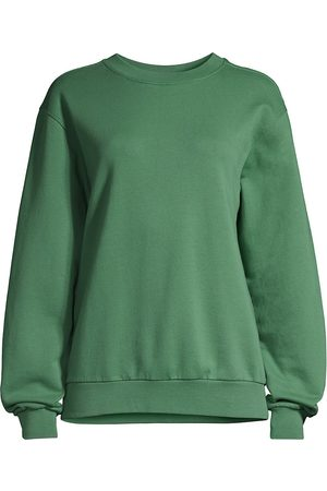Les Girls Les Boys Women's Loopback Crewneck Sweater - Myrtle - Size Medium