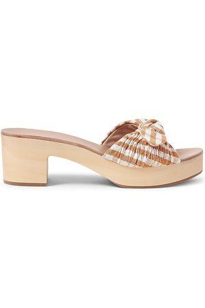 Loeffler Randall Women's Regina Gingham Slide Sandals - - Size 10