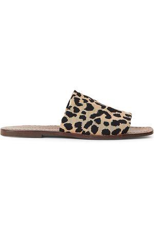 Loeffler Randall Women's Daria Leopard Stretch Slide Sandals - Leopard - Size 10.5