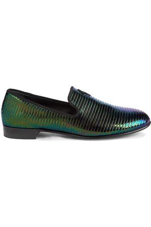 Giuseppe Zanotti Men's Kevin Leather Loafers - Killboy Petrolio - Size 13