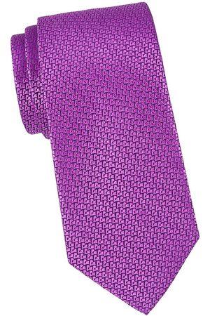 Charvet Men's Micro Pattern Silk Tie