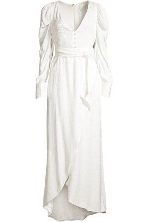 Azulu Women's Roxanne Puff-Sleeve Tulip Dress - - Size 0