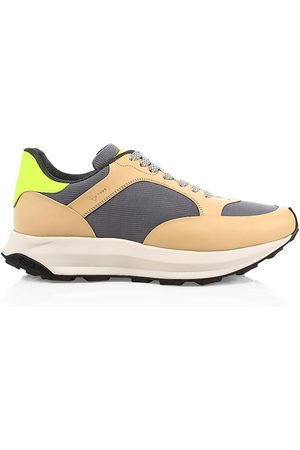 ALFRED DUNHILL Men's Aerial Patina Leather Runners - Camel - Size 12