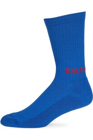 Balenciaga Men's Logo Tennis Socks - - Size Large