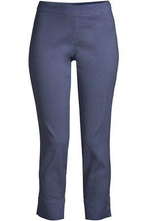 120% Lino 120% Lino Women's Side Zip Capri Pants - Dark Navy Fade - Size Medium