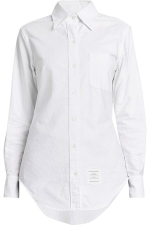Thom Browne Women's Classic Oxford Button Down Shirt - - Size 8