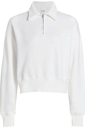 RE/DONE Women's 70s Half-Zip Sweatshirt - - Size Medium