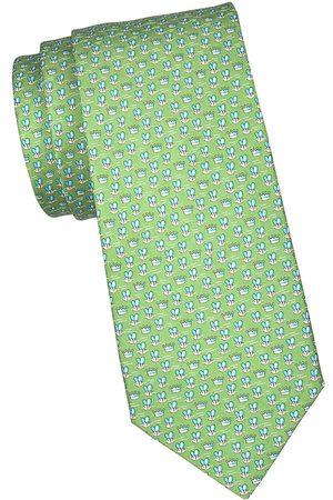 Salvatore Ferragamo Men's Bull Silk Tie