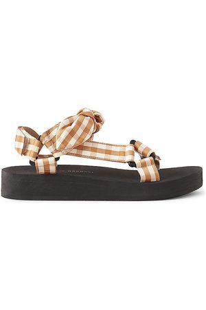 Loeffler Randall Women's Maisie Gingham Sporty Sandals - Size 9.5