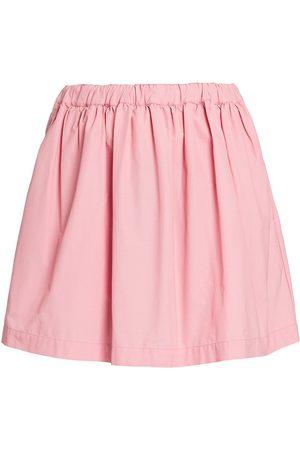 Plan C Women's Pleated Tecnico Skirt - Buttercup - Size 8