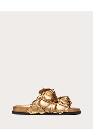 VALENTINO GARAVANI Women Sandals - Atelier Shoes 03 Rose Edition Slide Sandal 35 Mm Women Antique Brass 100% Lambskin 37