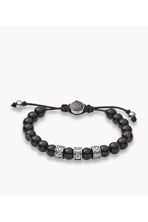 Diesel Men's Stainless-Steel And Line Agate Bead Bracelet