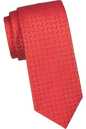 Charvet Men's Geometric Curve Silk Tie
