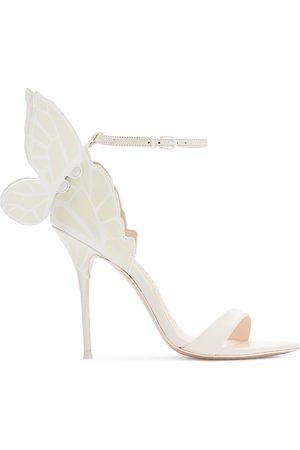SOPHIA WEBSTER Women's Chiara Leather Sandals - Ivory Pearl - Size 11