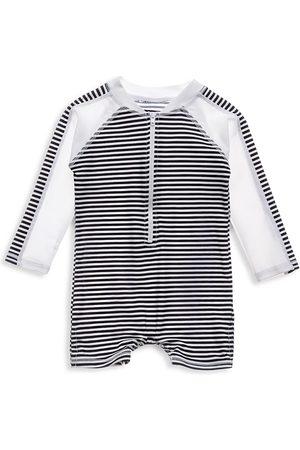 Snapper Rock Baby Girl's Nautical Stripe Long Sleeve Sunsuit - - Size Newborn