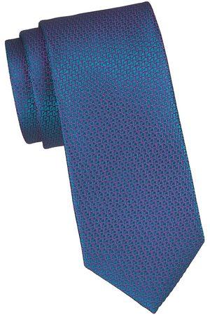 Charvet Men's Micro Pattern Silk Tie - Teal