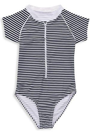 Snapper Rock Little Girl's & Girl's Core Nautical Stripe Short-Sleeve Surf Suit - - Size 8
