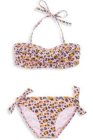 Snapper Rock Little Girl's & Girl's Leopard Love Bandeau Bikini - - Size 3