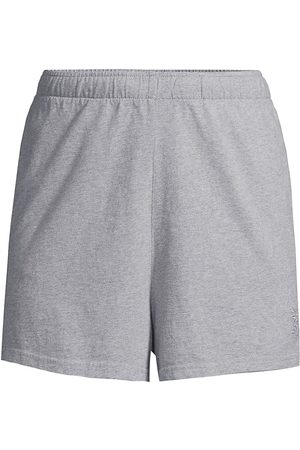 Les Girls Les Boys Women's Jersey Apparel Loose Shorts - Grey Marl - Size Large